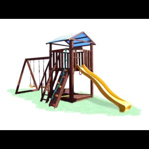 Детский игровой комплекс с качелями и песочницей Babygrai -10