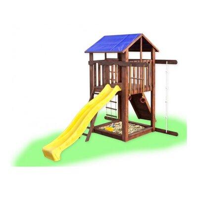 Детский домик с горкой и скалолазкой Babygrai -1