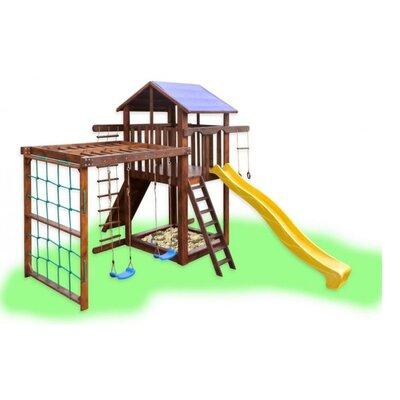 Детский игровой комплекс с рукоходом и качелями Babygrai -3