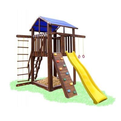 Детский домик со скалолазкой, горкой и качелькой Babygrai -9