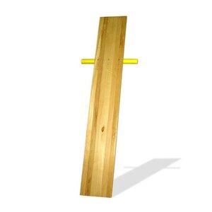 Доска для пресса из сосны 180 см с упорами для ног