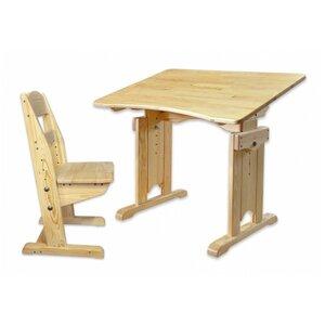Комплект парта с растущим стулом из сосны