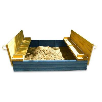Песочница из сосны 200х200см с крышкой Козачок производства Бебиграй  - главное фото