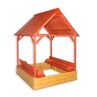 Песочница с крышкой и крышей цветная