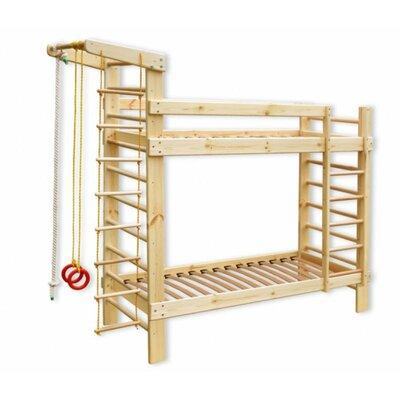Детская двухъярусная спортивная кровать 80*190 производства Бебиграй  - главное фото