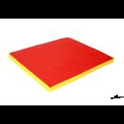 Гимнастический мат 80х120х8см желто-красный