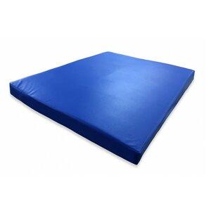 Гимнастический мат синий 100х120х8см