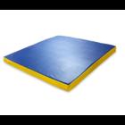 Гимнастический мат желто-синий 100х100х8см