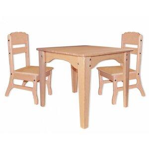 Столик и 2 стульчика из бука