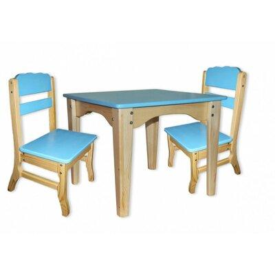Столик и 2 стульчика комбинированные синие