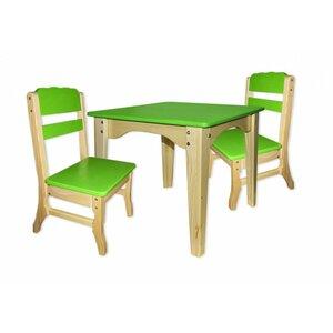 Столик и 2 стульчика комбинированные зеленые