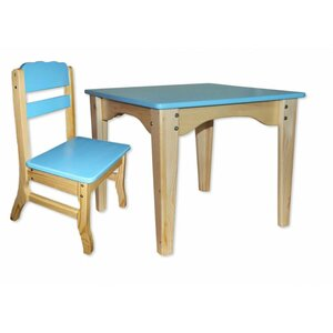 Столик и стульчик комбинированный синий