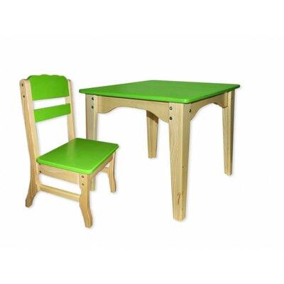 Столик и стульчик комбинированный зеленый