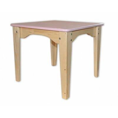 Столик комбинированный розовый
