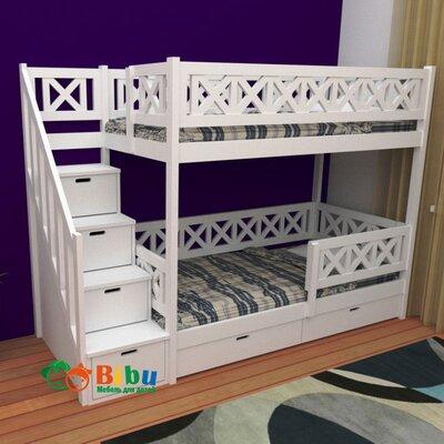 Двухъярусная кровать Агата в белом цвете