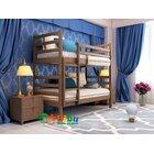 Двухъярусная кровать трансформер Твейс 80*190 из ольхи