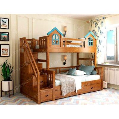 Двухъярусная кровать домик Городок производства Justwood - главное фото