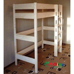 Кровать - чердак из ольхи