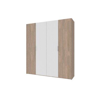 Гардеробный шкаф Норман 200х54х220 Сонома/Белый производства Doros - главное фото