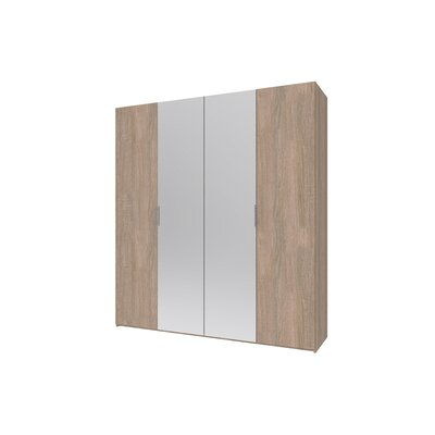 Гардеробный шкаф Норман 200х54х220 Сонома/Зеркало производства Doros - главное фото