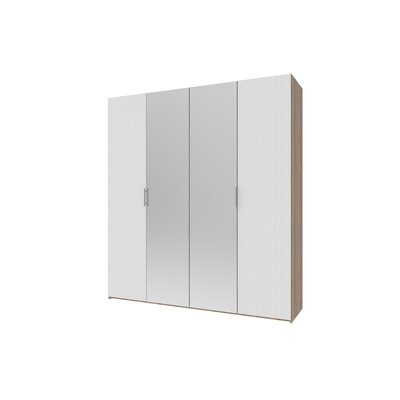 Гардеробный шкаф Норман 200х54х220 Белый/Зеркало производства Doros - главное фото