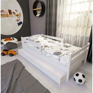 Кровать детская одноярусная FeliFam Classic Конструктор FC-105W Белый