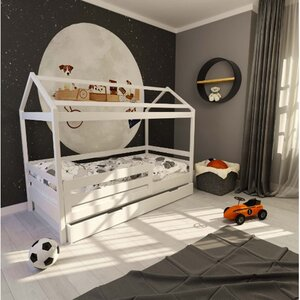 Кровать детская одноярусная FeliFam Classic Конструктор FC-111W Белый