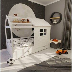 Кровать детская одноярусная FeliFam Classic Конструктор FC-112W Белый