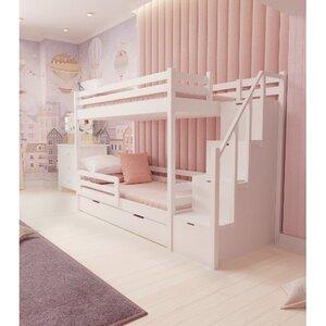 Кровать детская двухъярусная FeliFam Classic Конструктор FC-502W Белый