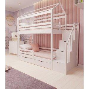 Кровать детская двухъярусная FeliFam Classic Конструктор FC-503W Белый