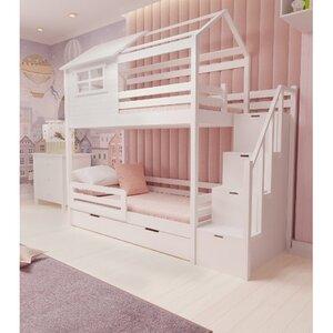 Кровать детская двухъярусная FeliFam Classic Конструктор FC-504W Белый