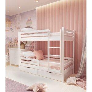 Кровать детская двухъярусная FeliFam Classic Конструктор FC-505W Белый