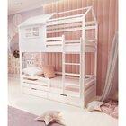 Кровать детская двухъярусная FeliFam Classic Конструктор FC-508W Белый