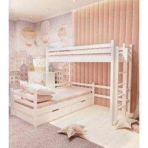 Кровать детская двухъярусная FeliFam Classic Конструктор FC-509W Белый