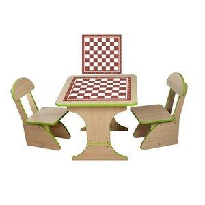Игровой столик растущий +2 стульчика, Шахматы
