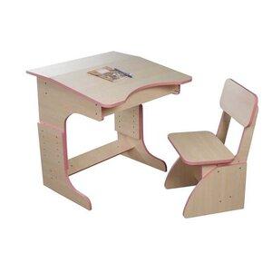Эко Парта растущая + стульчик (розовая)