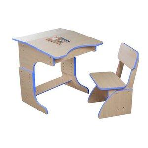 Эко Парта растущая + стульчик (синяя)