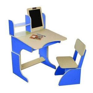 Парта с мольбертом растущая + стульчик (синяя)