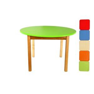 Детский деревянный столик с круглой столешницей (салатовый)