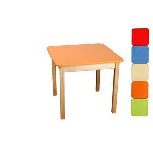 Стол деревянный (оранжевый)