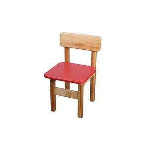 Детский деревянный стульчик (красный)