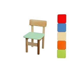 Детский деревянный стульчик (салатовый)