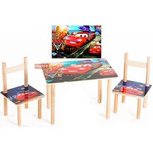 Детский Набор столик и два цветных стульчика Тачки