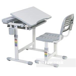 Комплект FunDesk Парта и стул-трансформеры Cantare Grey