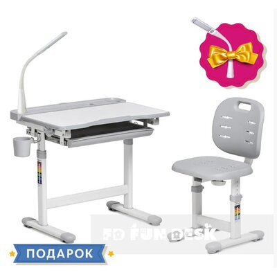 Детская парта со стульчиком FunDesk Cura Grey производства Fundesk - главное фото
