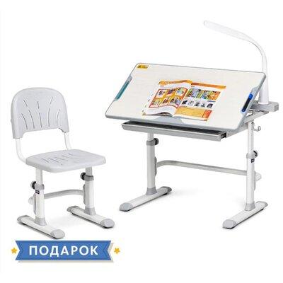 Комплект парта + стул трансформеры Cubby DISA Grey производства Fundesk - главное фото