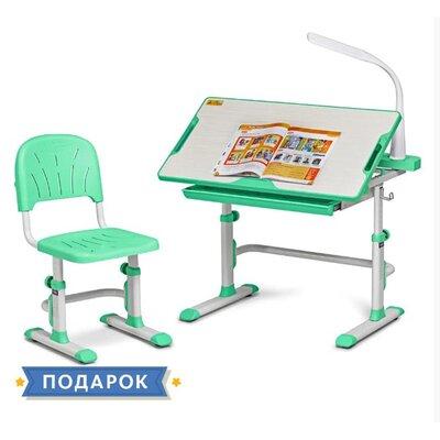 Комплект парта + стул трансформеры Cubby DISA Green производства Fundesk - главное фото