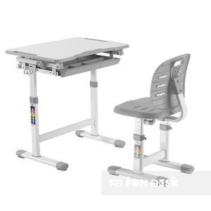 Комплект FUNDESK парта + стул трансформеры Piccolino III Grey