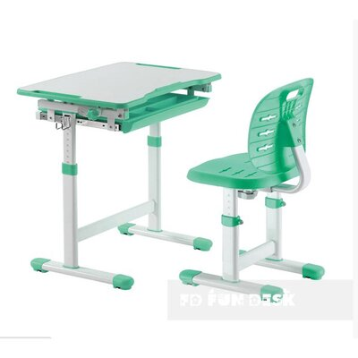 Комплект FUNDESK парта + стул трансформеры Piccolino III Green производства Fundesk - главное фото