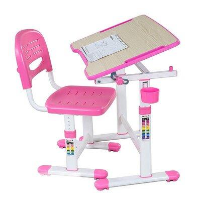 Комплект парта и стул-трансформеры FunDesk Piccolino II Pink производства Fundesk - главное фото